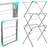NEW CLOTHES AIRER 3 TIER LAUNDRY DRYER CONCERTINA INDOOR OUTDOOR PATIO