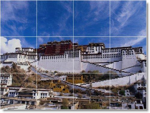 DUCHA MURAL DE AZULEJOS DE FOTOS DE CIUDAD C125  24X 32CM CON (12) 8X 8AZULEJOS DE CERAMICA