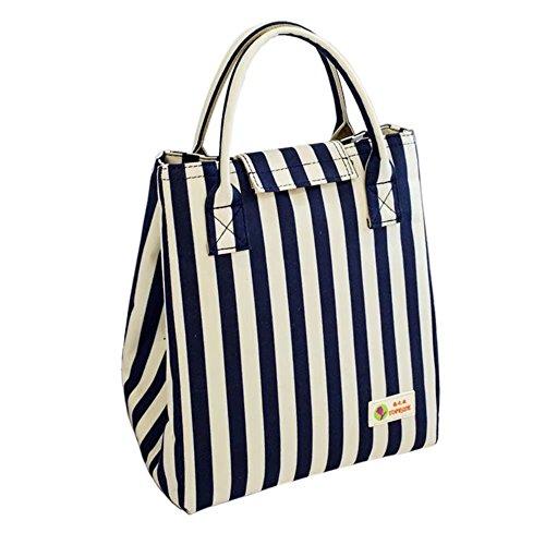 Tasche für Brotdose, isoliert, für Kinder, Mädchen, Damen, modern, wasserdicht. dunkelblau