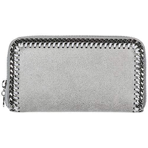 Stella McCartney portafoglio Continental Falabella donna grigio