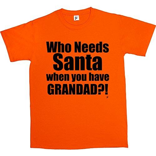 Fancy A Snuggle -  T-shirt - Collo a U  - Maniche corte  - Uomo Arancione