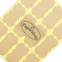 Kraft Labels (x36) - DIY Blank Kraft Stickers - for Jam Jars, Home Baking, Handmade Gifts, Cosmetic Tin/Pot Labelling & Craft