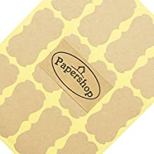 Kraft Labels (x36) by Papershop - For Jam Jars, Home Baking, Handmade Gifts, Sealing Envelopes And More