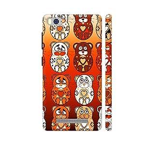 Colorpur Xiaomi Mi 4i Cover - Cute Bunny Teddy Pattern 1 Case