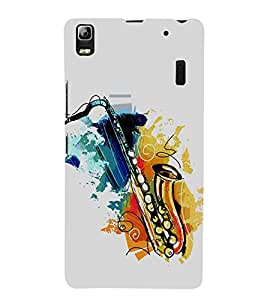 PrintVisa Saxophone Musical Instrument 3D Hard Polycarbonate Designer Back Case Cover for Lenovo K3 Note :: Lenovo A7000 Turbo