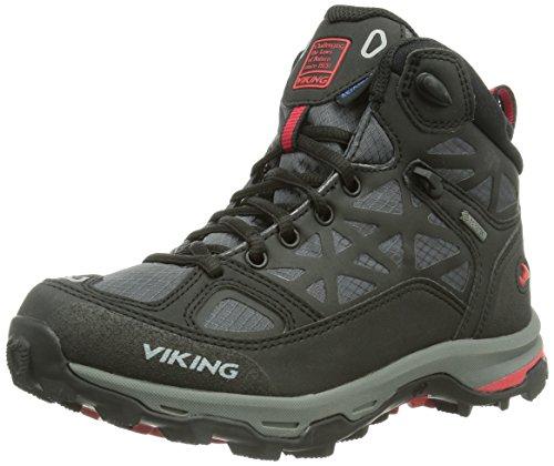 Viking Ascent GTX Unisex-Erwachsene Trekking & Wanderschuhe Schwarz (Black/Red 210)