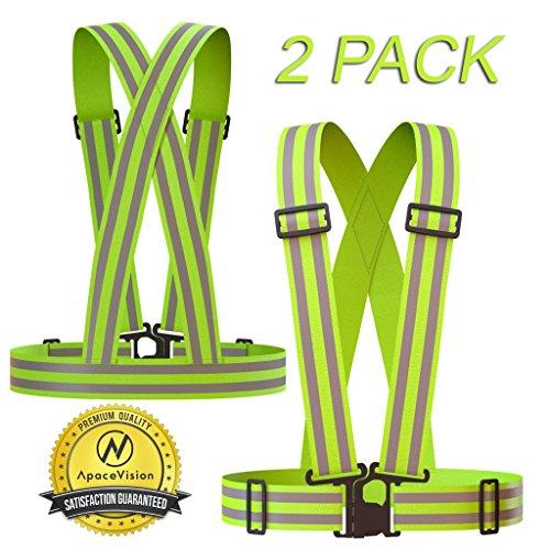 Apace Vision Reflektorweste (2er Pack) | Premium Sicherheitsweste für Laufen, Joggen, Walking, Fahrrad Fahren und Mehr