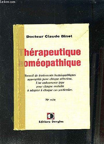 Thrapeutique homopathique
