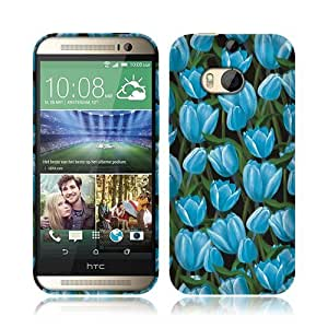 Nextkin HTC One 2 M8 Flexible Slim Silicone TPU Skin Gel Soft Protector Cover Case - Fields Of Blue Tulips