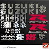 Pegatinas Suzuki GSX-R 600, tabla bicolor XXL, cromado y rojo- gsxr, gsx r, pegatina, adhesivos, gt-diseño