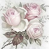 Qualitäts Servietten Vintage Photo Geburtstag Schönste Rose 20 Stück 3-lagig 33x33cm