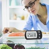 Oria Digital Kühlschrank Thermometer Wasserdicht Gefrierschrank thermometer mit Haken Leicht zu LCD-Display lesen, Max/Min Funktion Perfekt für Wohnhaus, Restaurants, Cafes, Eisschrank, Kühl, etc. - 7