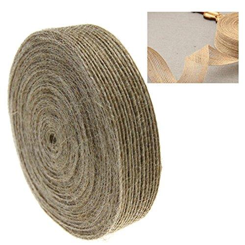 Juteband natur weich, 2cm breit - 10M lang
