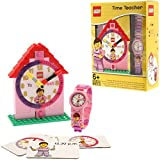 "LEGO Girls 9005039 ""Time Teacher"" Set with Plastic Watch, Constructible Clock, and Activity Cards"