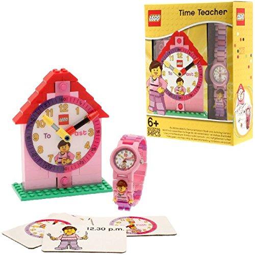 Lego Reloj, diseño Profesor de Tiempo, Color Rosa 9005039