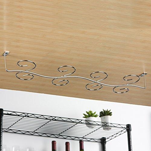 acciaio inossidabile appeso porta bicchiere vino rosso vino rack rack rack stemware