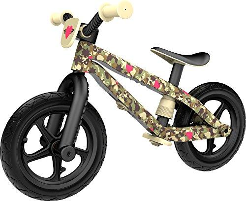 Chillafish BMXie-RS: BMX Balance Bike mit Luftlose RubberSkin Reifen, Bester Grip ohne Aufpumpen, Army of Love Edition, Camo (Sergeant Hearts) -