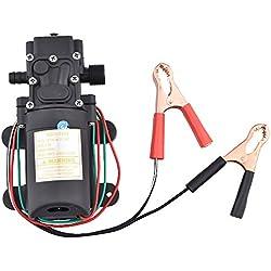 MENEA Bomba de transferencia de 12 V 4,0 L/min 100 PSI autocebado presión bomba de diafragma para extractor de aceite líquido diésel eléctrico Sifón coche moto