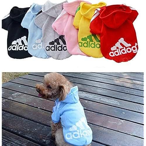 regalos tus mascotas mas kawaii Ropa de Perros Abrigo Suéter de Algodón Caliente Suave con Capucha Nueva Camiseta Casual Adidog para Mascotas Perros Gatos,M-Azul