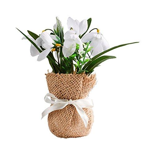 Blumengesteck Schneeglöckchen, Schneeglöckchen im Säckchen | Kunstblume, Dekoration, 16 cm