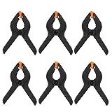 ESUMIC® 6PCS 4 Inch Black Nylon Backdrop Clamps Heavy Duty Spring Clamps pour Muslin Paper Photo Fond d'écran