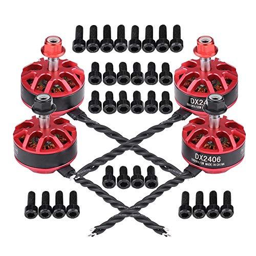 RC Brushless Motor, 4pcs DX2406 2600KV 2-4S Brushless Motor for X220 X220S 250 280 300 RC Racing Drone