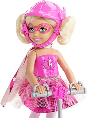 Image of Barbie Toy - Princess Power Scooter with Chelsea 6 Inch Doll in Superhero Costume