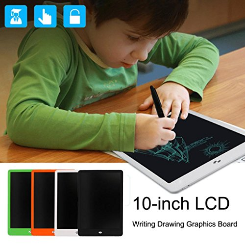 Writing Tablet, Sansee 10inch LCD eWriter Paperless Memo Pad Tablet Writing Zeichnung Grafik-Board (Onekey Lock Bildschirm) (10 Zoll LCD, #004 Orange)
