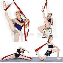 Price Xes Sangle réglable pour étirer les jambesFacile à installer sur une portePour augmenter la souplesse et pour les étirements des jambes en danse, cheerleading, gymnastique, taekwondo, MMA, ballet Pour la maison ou la salle de sport