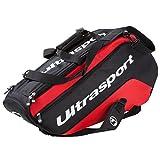 Ultrasport Borsa Termica per Racchette da Tennis, Nero/Rosso