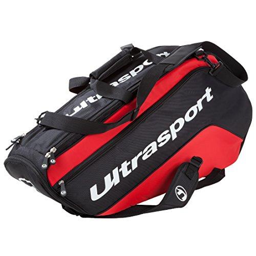 Ultrasport Thermoschlägertasche für 10 Schläger, Rot/Schwarz, L, 331600000018