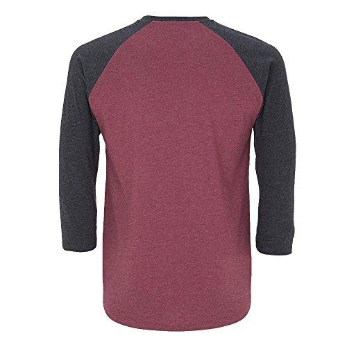 Salvage - Unisex Baseball T-Shirt mit 3/4-Arm Melange Heather/Melange Navy