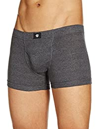 ONN NR355 Men's Assorted Color Cotton Ribbed Front Open Boxer Brief pack of 2