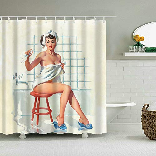Decoración Baño,Impresión 3D HD No Se Desvanece,Sexy
