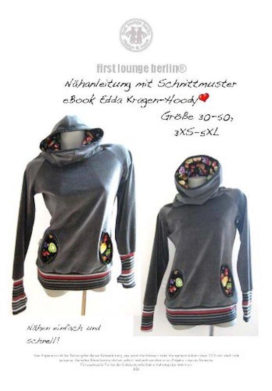 Edda Nähanleitung mit Schnittmuster für Sweatshirt in Gr. 30-50 [Download] - Fleece-jersey Sweatshirt