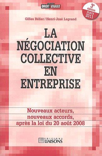 La négociation collective en entreprise