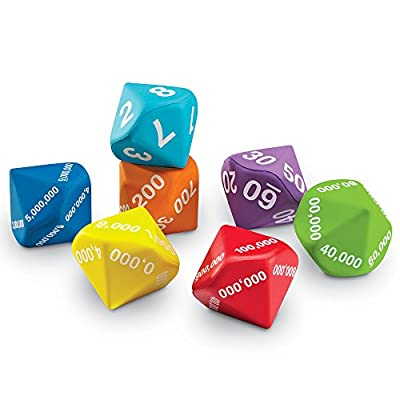 Learning Resources Place Value Foam Dice by Learning Resources