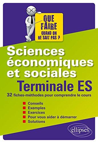 Sciences conomiques et sociales - Terminale ES