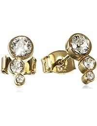 Dyrberg/kern-boucles d'oreilles clous femme - 15/02 lini sg crystal pour femme en laiton et cristal transparent 9 cm - 338133