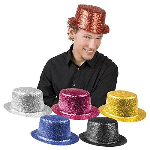 erdbeerclown - Kostüm Gala Hut Karneval Glitzer, Rost (Rost Helm Kostüm)