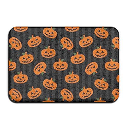 MSGDF Non-Slip Bath Mat, Bathroom Rug Mat, Halloween's Pumpkin Senior Design Area Rugs for Living Room,15.7X23.6 Inches(40cmX60cm) (Nail Design-ideen Für Halloween)