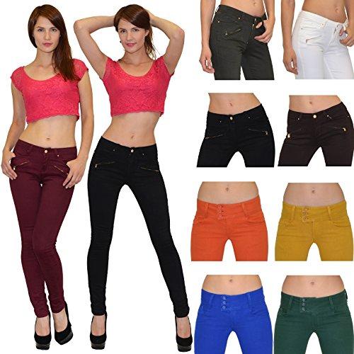Jean femme Jeans pour femmes taille basse pantalon en jean femme skinny en 4 couleurs Z90 Z82-bleu