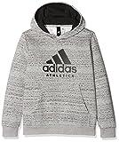 adidas Jungen Sport Id Trainingskapuzenpullover Pullover, Mgreyh/Black, 176