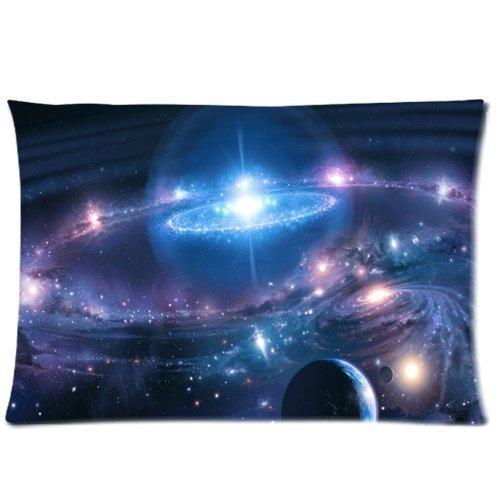Espace Univers Planète Terre Galaxy Taie d'oreiller Taie d'oreiller zippée souple Rectangle Taie d'oreiller 50,8 x 76,2 cm pouce (2 Côtés)