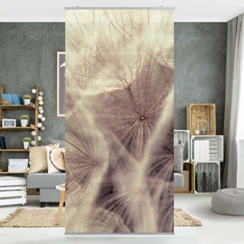 Flächenvorhang Set Detailreiche Pusteblumen Makroaufnahme mit Vintage Blur Effekt 250x120cm,...