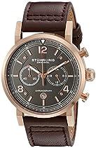 Stuhrling Original Herren-Armbanduhr Aviator Analog Quarz 583.03