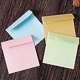 PInerxuz - 10Pcs Einfache Solid Color Quadrat-Umschlag Umschlag Papiertüte Büro-Briefpapier