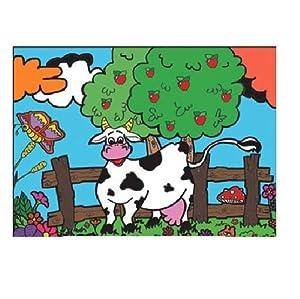 Colorvelvet 37x 28cm Vaca Sistema de Dibujo para Colorear (tamaño Mediano