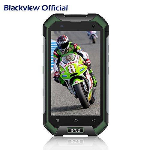 Blackview Teléfonos Libres, BV6000 - Móvil Antigolpes - 4G Smartphones con Android 7.0 y 3GB RAM + 32GB ROM, Dual SIM, 13MP Cámara, 4.7 HD, 4500mAh - Verde