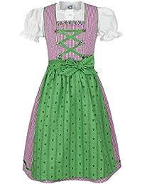 Isar-Trachten Mädchen Kinderdirndl Beere grün mit Bluse, Beere,